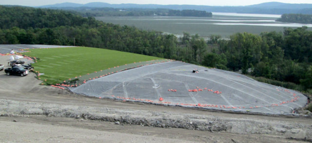 Holcim Monofill Closure Turf Field worksite