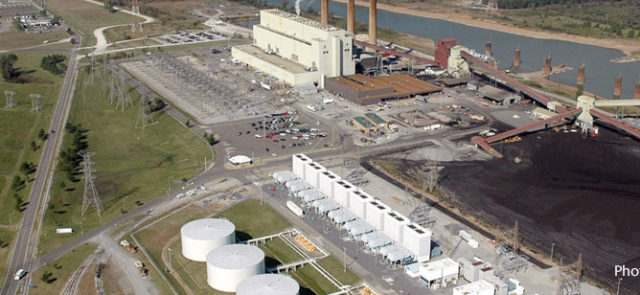 Aerial view of TVA Allen Combined Cycle Plant
